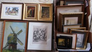 Quantity of assorted framed prints
