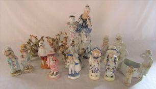 Assorted Continental figures etc (some af)