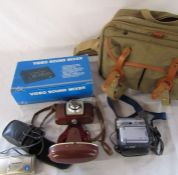 Selection of camera equipment and instructions inc Olympus Zoom 80, Kodak Coloursnap 35 and a Sony