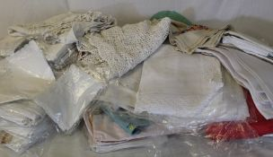 Large quantity of mainly table linen including napkins, tablecloths etc.