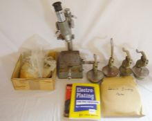 Watts engineers microscope, Levin Dividing plates etc