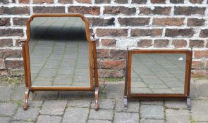 Dressing table mirror and toilet mirror