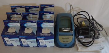 Dymo Label Writer EL60 & 6 boxes of continuous paper