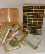 Selection of jewellery making accessories, beads and haberdashery