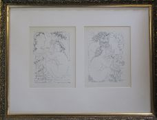 Pablo Picasso (1881-1973) pair of prints featuring nudes from The Vollard Suite published in 1956 67