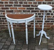Plant stand and a demi lune table