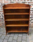 Early 20th century oak bookcase H 117cm W 90cm