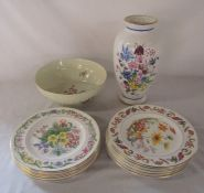 Collection of Royal Horticultural flowers plates, Chelsea Flower Show 'Alpine Glory' vase by