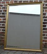 Large gilt framed wall mirror 100 cm x 128 cm