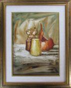 Framed oil painting of still life 45 cm x 56 cm (size including frame)