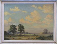 Framed oil on board 'Evening Clouds' by Clive Browne 46 cm x 36 cm (size including frame)