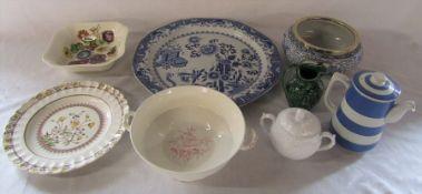 Various Spode ceramics inc charger D 41 cm, Adams and Wedgwood