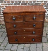 Victorian chest of drawers (missing feet) H 95cm W 93cm