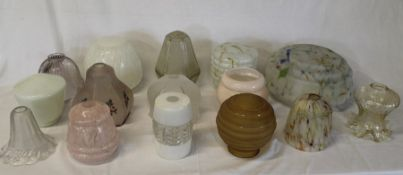 Selection of glass lamp shades