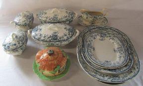 Late Victorian / Edwardian tureens & Beswick cottage ware