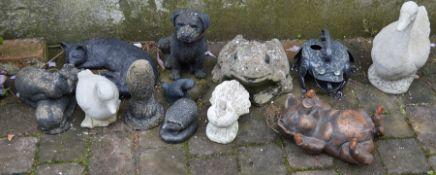 Selection of garden ornaments