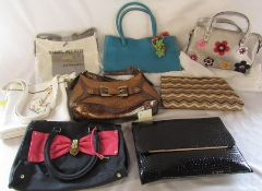 Assorted brand new ladies handbags inc Daniel Hechter and New Look (some with tags)