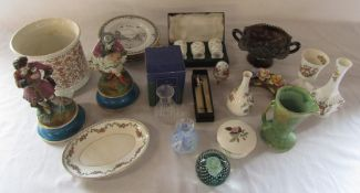 Various ceramics and glassware inc Aynsley, Minton, Cleethorpes collectors plates, Wedgwood and