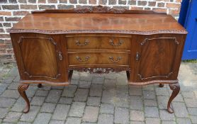 Early 20th century mahogany serpentine fronted sideboard on cabriole legs L 153 cm D 50 cm H 101