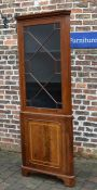 Martin J Dodge Regency style corner cupboard (matching lots 583 & 659) H 207cm W 73cm
