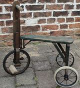 Child's wooden tricycle c1920