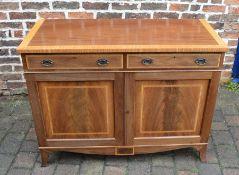 Martin J Dodge Regency style sideboard in mahogany with satin wood banding & ebony stringing (