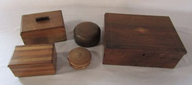 Various wooden boxes