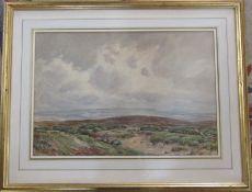 Framed watercolour of a moorland scene by Edmund Morison Wimperis (1835-1900) 71 cm x 56 cm (size