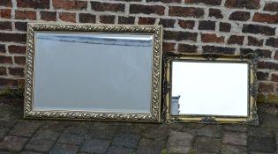 2 Gilt framed wall mirrors