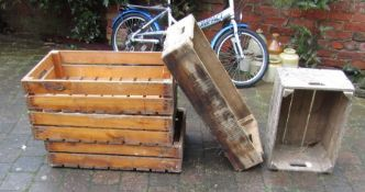 Assorted wooden crates / boxes