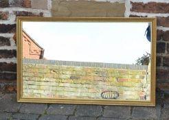 Rectangular wall mirror 81cm by 51cm
