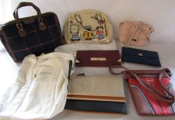 Selection of brand new ladies handbags inc Moda, New Look and Acess & a fabric shopping bag by