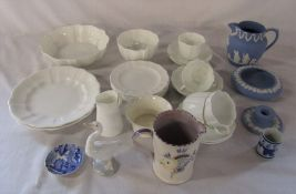 Royal Crown Derby part tea service, Poole jug (by Nellie Bishton), Wedgwood and Lladro