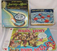 Mego Journey to the Moon and Lunar Traffic Control vintage space games and Dad's Army board game