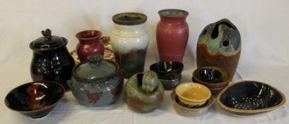 Selection of studio pottery