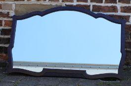 Early 20th century mahogany framed wall mirror