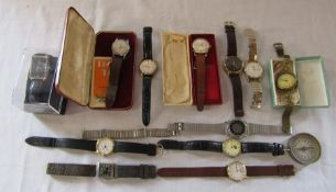Assorted gents watches inc Rone, Titus, Stirling and Sekonda