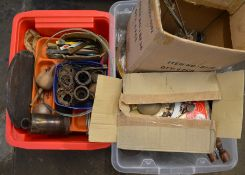 2 boxes of clock & watch parts