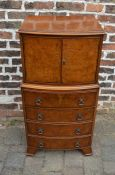Bow fronted Georgian style cabinet