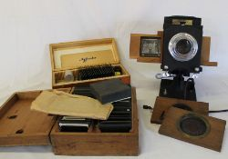 "Johnson Optiscope projector, 2 boxes of slides including topographic ""Shakespeare Country"" and 4"