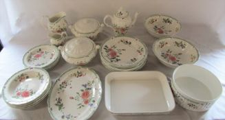 Quantity of Royal Doulton 'Victorian Garden' TC1176 table ware inc tureens, plates and dishes