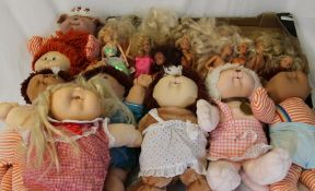 Quantity of Cabbage Patch Kids & Cabbage Patch Koosas and a selection of Barbie and Sindy dolls