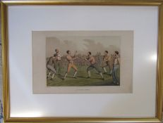 Henry Alken (1785-1851) late 19th century lithograph entitled 'A prize fight' (bare knuckle