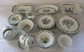 Royal Worcester 'Worcester Herbs' part dinner / tea service