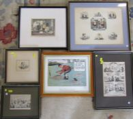 Various engravings etc inc George Cruckshank - Clairvoyance & Wine in a ferment and 5 pints in hot
