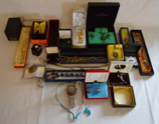 Selection of jewellery, costume jewellery & watches