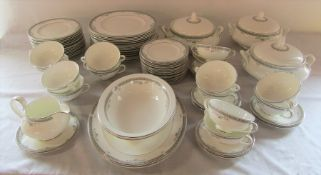 Royal Doulton 'York' pattern part dinner service inc 3 tureens, meat plates and soup bowls