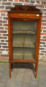 Small Edwardian display cabinet