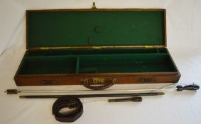 Vintage gun case with cleaning rods