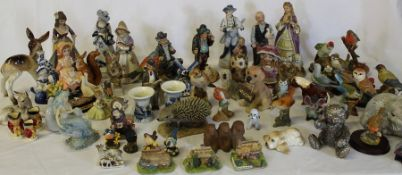 Selection of animal figurines and decorative ornaments (2 boxes)